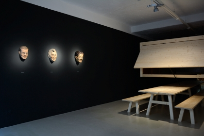 The uncomfortable Science; installation view at ar/ge Kunst Galerie Museum, Bozen/Bolzano, South Tyrol. Gareth Kennedy, 2014